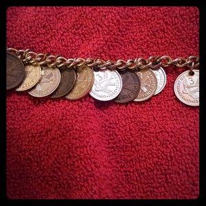 Vintage Queen Elizabeth the Second Coin necklace